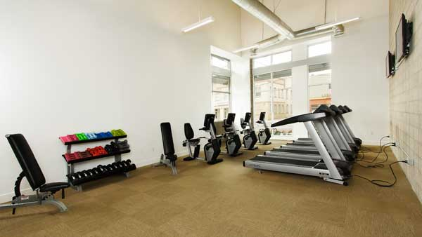 lb senior apartments gym view