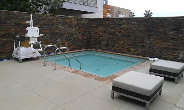 lb senior apartments pool area